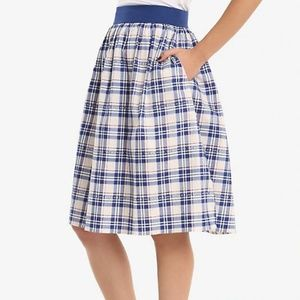 "BBC DOCTOR WHO PLAID WOMENS SKIRT ""NWT"""